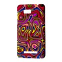Abstract Shimmering Multicolor Swirly HTC One SU T528W Hardshell Case View3