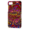 Abstract Shimmering Multicolor Swirly BlackBerry Z10 View3