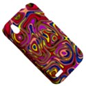 Abstract Shimmering Multicolor Swirly HTC Desire V (T328W) Hardshell Case View5