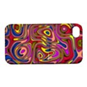 Abstract Shimmering Multicolor Swirly Apple iPhone 4/4S Hardshell Case with Stand View1