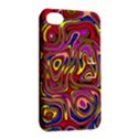 Abstract Shimmering Multicolor Swirly Apple iPhone 4/4S Hardshell Case with Stand View2