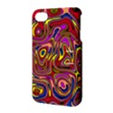 Abstract Shimmering Multicolor Swirly Apple iPhone 4/4S Hardshell Case with Stand View3
