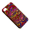 Abstract Shimmering Multicolor Swirly Apple iPhone 4/4S Hardshell Case with Stand View5