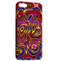 Abstract Shimmering Multicolor Swirly Apple iPhone 5 Hardshell Case with Stand View2