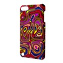 Abstract Shimmering Multicolor Swirly Apple iPod Touch 5 Hardshell Case with Stand View3