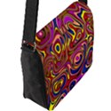Abstract Shimmering Multicolor Swirly Flap Messenger Bag (L)  View2