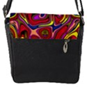 Abstract Shimmering Multicolor Swirly Flap Messenger Bag (S) View1