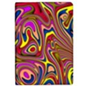 Abstract Shimmering Multicolor Swirly iPad Air Flip View1