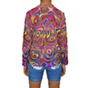 Abstract Shimmering Multicolor Swirly Kids  Long Sleeve Swimwear View2