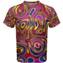 Abstract Shimmering Multicolor Swirly Men s Cotton Tee View1