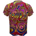 Abstract Shimmering Multicolor Swirly Men s Cotton Tee View2