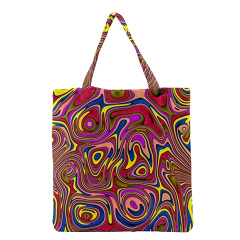Abstract Shimmering Multicolor Swirly Grocery Tote Bag