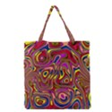 Abstract Shimmering Multicolor Swirly Grocery Tote Bag View1