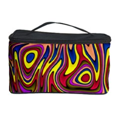 Abstract Shimmering Multicolor Swirly Cosmetic Storage Case