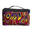 Abstract Shimmering Multicolor Swirly Cosmetic Storage Case View1