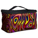 Abstract Shimmering Multicolor Swirly Cosmetic Storage Case View2