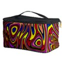 Abstract Shimmering Multicolor Swirly Cosmetic Storage Case View3