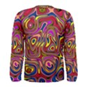 Abstract Shimmering Multicolor Swirly Men s Long Sleeve Tee View2