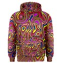 Abstract Shimmering Multicolor Swirly Men s Pullover Hoodie View1