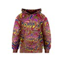 Abstract Shimmering Multicolor Swirly Kids  Pullover Hoodie View1