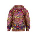 Abstract Shimmering Multicolor Swirly Kids  Pullover Hoodie View2