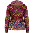 Abstract Shimmering Multicolor Swirly Women s Pullover Hoodie View2