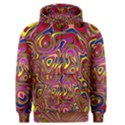 Abstract Shimmering Multicolor Swirly Men s Zipper Hoodie View1