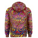 Abstract Shimmering Multicolor Swirly Men s Zipper Hoodie View2