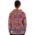 Abstract Shimmering Multicolor Swirly Women s Zipper Hoodie View2