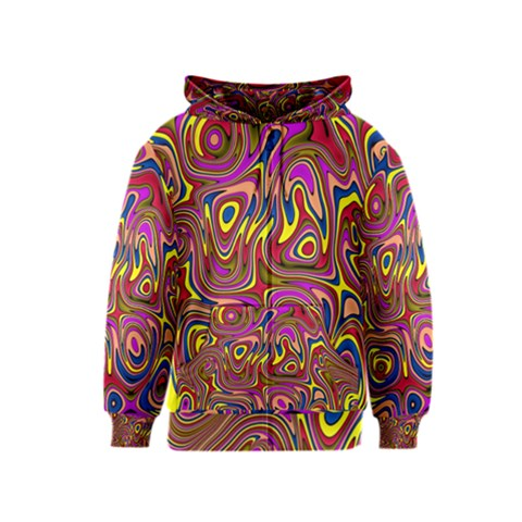 Abstract Shimmering Multicolor Swirly Kids  Zipper Hoodie