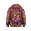 Abstract Shimmering Multicolor Swirly Kids  Zipper Hoodie View2