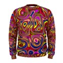 Abstract Shimmering Multicolor Swirly Men s Sweatshirt View1