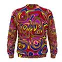 Abstract Shimmering Multicolor Swirly Men s Sweatshirt View2