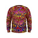 Abstract Shimmering Multicolor Swirly Kids  Sweatshirt View1