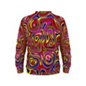 Abstract Shimmering Multicolor Swirly Kids  Sweatshirt View2