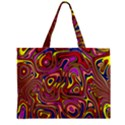 Abstract Shimmering Multicolor Swirly Zipper Mini Tote Bag View1
