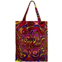 Abstract Shimmering Multicolor Swirly Zipper Classic Tote Bag View1