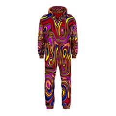 Abstract Shimmering Multicolor Swirly Hooded Jumpsuit (Kids)