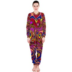 Abstract Shimmering Multicolor Swirly Onepiece Jumpsuit (ladies)