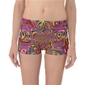 Abstract Shimmering Multicolor Swirly Boyleg Bikini Bottoms View1