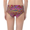 Abstract Shimmering Multicolor Swirly Mid-Waist Bikini Bottoms View2