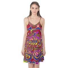 Abstract Shimmering Multicolor Swirly Camis Nightgown