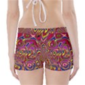 Abstract Shimmering Multicolor Swirly Boyleg Bikini Wrap Bottoms View2