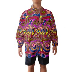 Abstract Shimmering Multicolor Swirly Wind Breaker (kids)