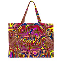 Abstract Shimmering Multicolor Swirly Large Tote Bag