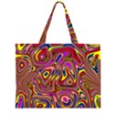 Abstract Shimmering Multicolor Swirly Large Tote Bag View1