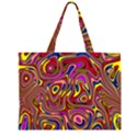 Abstract Shimmering Multicolor Swirly Large Tote Bag View2