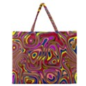 Abstract Shimmering Multicolor Swirly Zipper Large Tote Bag View1