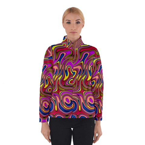 Abstract Shimmering Multicolor Swirly Winterwear