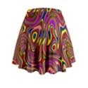 Abstract Shimmering Multicolor Swirly Mini Flare Skirt View2